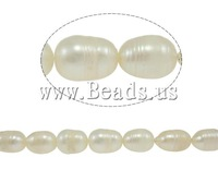 Free shipping!!!Rice Cultured Freshwater Pearl Beads,ladies jewelry, natural, white, A, 8-9mm, Hole:Approx 0.8mm