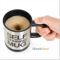 The new 2013 cups 1pc Bluw coffee mixing cup innovative items Automatic mug self stirring water teapot just love glass 350ml