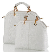 New Fashion Brand Designer Alligator Pattern Handbag Casual Totes For Women Made Of PU Leather