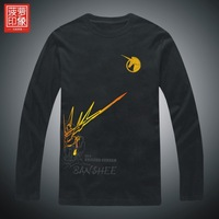T-shirt uc banshee unicorn pineapple men's clothing print long-sleeve