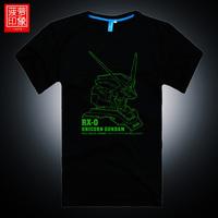 Luminous t-shirt uc unicorn plus size plus size loose Large men's clothing short-sleeve