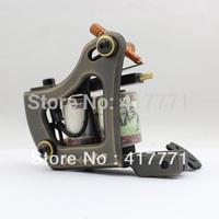 Hot Sale Handmade Tattoo Machine Gun Brass 12 Wrap Coil High Quality  For Shader