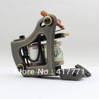 Hot Sale Handmade Tattoo Machine Gun Brass 12 Wrap Coil High Quality  For Shader