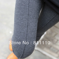 Trend Knitting  Hot sell ! Autumn and winter New women's leggings Cashmere wool Vertical stripes 9 minutes of pants