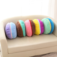Macaron macarons cartoon pillow cute cushion pillow dual round cake pillow