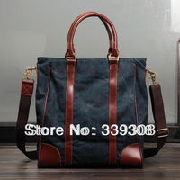 Free Shipping 2013 New Fashion Autumn bag handbag messenger bag briefcase vintage canvas bag men's shoudler bag
