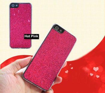 2PCS/Lots Christmas gift Newest Rhinestone Diamond Crystal Glitter Bling Hard Back Case for Iphone 5 5G  Free shipping