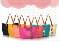 Women Lady Fashion Tote Bag Chain Pendant Hobo Shoulder Bag Handbag Candy Colors