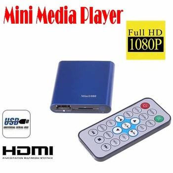 by dhl or ems 50 pieces HD Mini Media Player 1080P HDMI SD/USB HD Media Player MKV/RM/RMVB