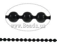Free shipping!!!Iron Ball Chain,Inspirational, electrophoresis, black, nickel, lead & cadmium free, 1.50mm, Length:100 m