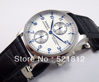 43mm Parnis blue Power Reserve automatic ST 2542 Watch deployment buckle PN048F