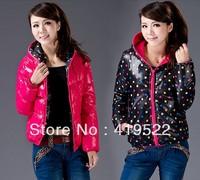 Free Shipping 2013 Slim Wadded Jacket Outerwear Cotton-padded Jacket Women's Warm Cotton-padded Jacket Winter Down Coat