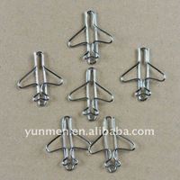 OP058DN-100PCS Silver Airplane Paper Clip in a OPP Bag