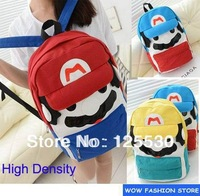 New Designer Fashion Uniex Grils Boys School Backpacks Character Mario Cartoon Canvas Pu Casual Ipad Bag