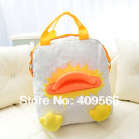 Duck bags  canvas handbag cross-body one shoulder double-shoulder casual backpack for grils children handbag cute Flying Bear