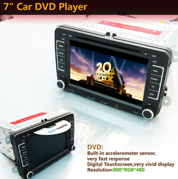 7 inch 2 Din Digital Screen Volkswagen VW Stereo Car DVD Player With GPS Bluetooth USB MP3 RDS 3D PIP Radio Win6.0 Car PC Russia