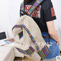 National 2013 trend backpack female canvas fashion preppy style trend of the student school bag totes shoulder bag FREE SHIPPING