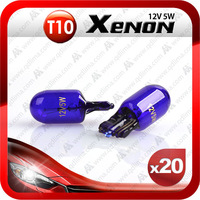 free shipping 20pcs xenon super white T10 158 194 W5W 501 12V 5W car lamp bulb