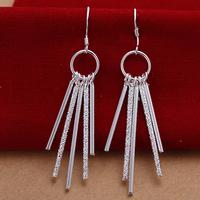 Free shipping lowest price wholesale for women's 925 silver earrings 925 silver fashion jewelry 5bar drop Earrings SE026