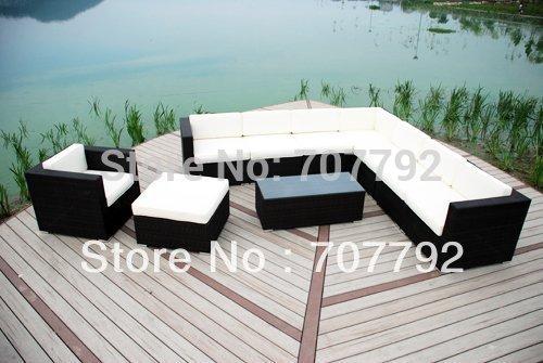 mobiliario de jardim em rattan sintetico:Outdoor Patio Sofa and Chair Set