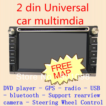 Free shipment Hot Selling 2 Din In Dash HD Car Stereo Player DVD Radio GPS 3D Menu UNIVERSAL