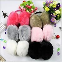 5pcs/lot Free Shipping Girl's Winter Plush Warm Earmuffs solid color Earwarmers Earlap Fashion Earcap Earcover