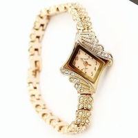 2013 NEW Fashion Woman Quartz Watch Korean rhombic dial rose gold diamond bracelet watch Lady Wristwatches Free Shipping