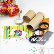 Двойной вращающийся калейдоскоп игрушки своими руками бумага установлен игрушки наука Creative компактный производство зеленый и молодых дети
