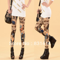 Korean Version Thin Elastic Waist Printed Leggings Fashion Hot Autumn-Summer Leggings Wholesale Free Shipping