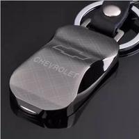 Car genuine leather car keychain tungsten steel emblem keychain male personality keychain key chain