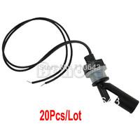 20pcs/Lot Wholesale New 110VDC PP Low Pressure Side Mount Horizontal Water Level Sensor Liquid Float Switch For Tank Pool TK0885