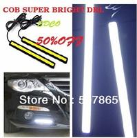 Free shipping New Ultra-thin high quality 84LED  7W 100% Waterproof Aluminium LED car fog DRL COB Daytime Running Lights