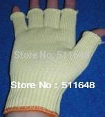 Free shipping 0059 Cut Resistant half-finger Aramid Gloves size L high quality