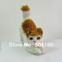 free shipping handmade animated animal craft cat
