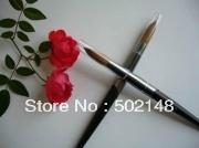 High Quality Oval 100% Kolinsky Acrylic Nail Art Brush 10#