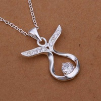 Free Shipping 925 Sterling Silver Necklace Fine Fashion Cute Silver Jewelry Necklace Chains Pendant Top Quality SMTN301