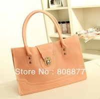 Top Grade PU Handbag PU Beach Bag PU Tote Bag in Different Colors Free Shipping
