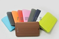 300pcs/lot Smart Cover with Stand Full Protection PU Leather Case for Samsung Galaxy Tab 3 7.0 T210 P3200