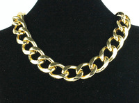 "2014 New Fashion Shiny Cut LIGHT GOLD Plated Chunky Aluminum Curb Chain Necklace 18"" Link Necklace"