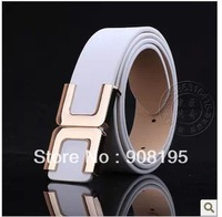Free Shipping Fashion New Style Unisex Multicolor pu Leather Smooth Buckle Belt