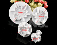 4Pcs Starfish Star Plastic Plunger Cookie Fondant Cake Cutter Decoration Tools