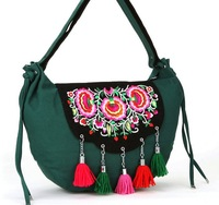 Ethnic characteristics of original new big bag embroidered canvas shoulder bag handbag 2013 new