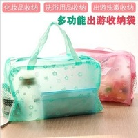 Derlook transparent waterproof cosmetic bag wash bag bath products storage bag
