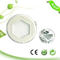 6W Small Round ultra-thin hexagonal LED panel 110mm 11cm 4 inch , 540LM,110V/220V,