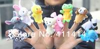 Fedex Freeshipping 2000pcs/lot Cartoon Animal Finger Puppet,Finger Toy,Finger Doll,Baby Dolls,Baby Toys,Animal Doll