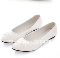 2014 NEW Lace up Women shoes for Lady fashion flat shoes Black & White