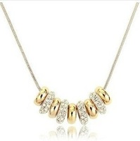 Wholesale New Style Hot sale Necklace 18K Gold Plated Austrian Crystal Fashion Jewelry The Wheat Necklaces Free Shipping