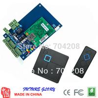 Free Shipping tcp/ip card door access controller door access control panel with two ID card readers