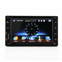 Universal 6.2 inch Double Din Touch Screen Stereo Car Radio Player With GPS Bluetooth USB MP3 RDS 3D PIP DVD CD Win6.0 Car PC