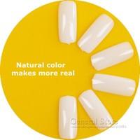 500pcs New Natural Color Full Cover Nail Tips False Nails Art Tip Artificial Salon Nail Tips Free Shipping GT180